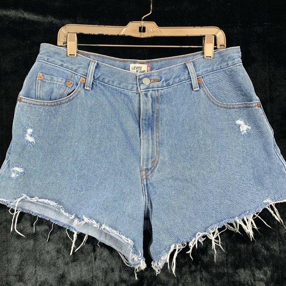 Levis 16 Cut Off Jean Shorts Distressed RUN SMALL